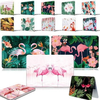 For Apple MacBook Air Pro Retina 11 12 13 15&New Air 13/Pro 13 15 16 with Touch Bar- Print Flamingo Hard Shell Laptop cover case for new macbook air pro retina 11 12 13 15 for macbook pro 13 15 2017 2018 a1708 a1989 floral feather print laptop case cover