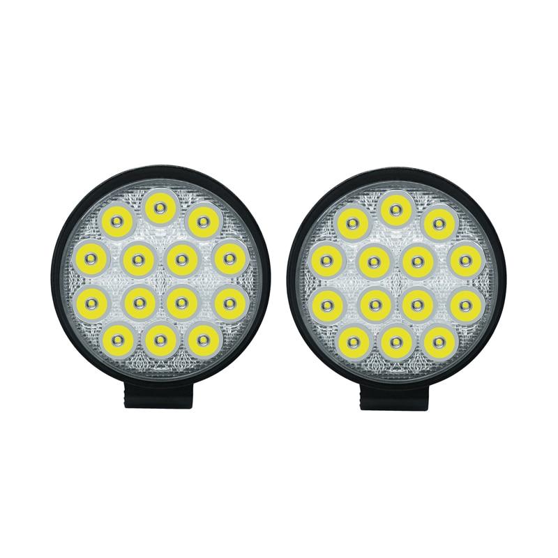 2x Circular 42W LED Work Light Bar 24V Off Road Spot Lamp For Car Truck off-road forklift boat light 6000K Led