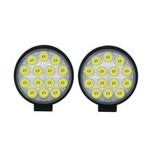 2x Circular 42W LED Work Light Bar 24V Off Road Spot Lamp For Car Truck off-road forklift boat light Bar 6000K Led майка print bar off road