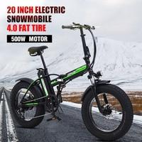 500w Elektrische fahrrad 20 zoll Motorrad 48v elektrische Folding fahrrad Berg e fahrrad Radfahren elektrische Schnee Bike fett reifen-in E-Bike aus Sport und Unterhaltung bei