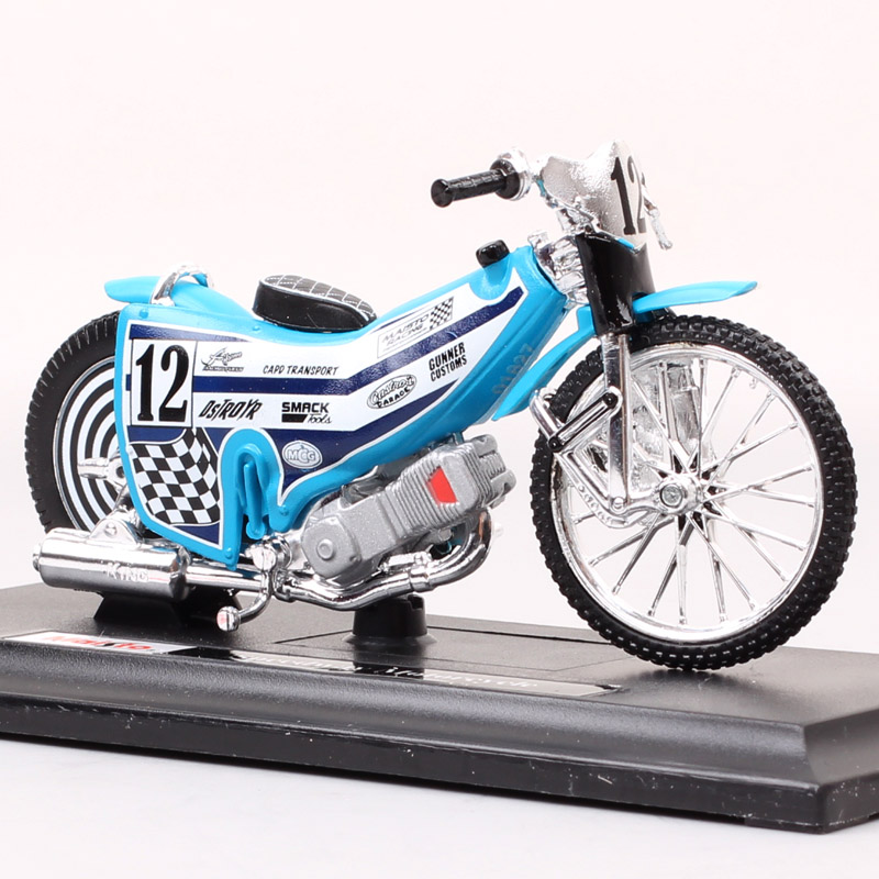 118 escalas mini no.12 piloto speedway motocicleta modelo pista maisto sujeira corrida de bicicleta gp diecasts & brinquedo veículo modelo collectible