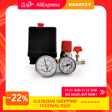 240V AC Regler Heavy Duty Air Kompressor Pumpe Druck Control Switch 4 Port Air Pumpe Regelventil 90 120PSI mit gauge