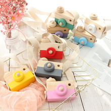 New Cute Nordic Hanging Wooden Camera Toys Kids Toy Gift Home Room Decor Furnishing Articles Toys For Kid Photography Prop Gifts