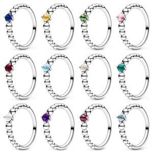 Высококачественное Оригинальное кольцо из стерлингового серебра 925 пробы на День святого Валентина 2020 MY TRUE Colors BIRTHSTONE коллекция каждый меся...