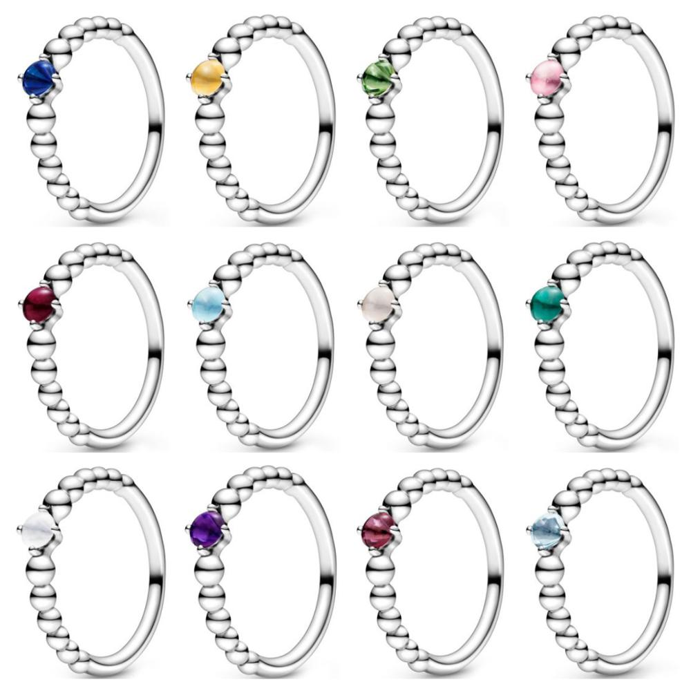 High Quality Original 925 Sterling Silver Ring VALENTINE 'S 2020 MY TRUE COLOURS BIRTHSTONE COLLECTION Each Month Of The Year