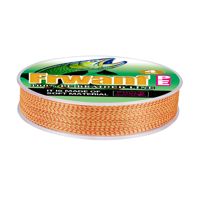 Amazing Frwanf briaded fishing spot line 4 Strand 100M 300M Fishing Lines cb5feb1b7314637725a2e7: Red and White X4|Red and Yellow X4