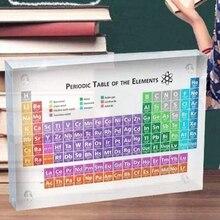 Akrylowe okresowy układ pierwiastków wyświetlacz tabeli, z elementami dzieci nauczania urodziny dzień nauczyciela prezenty