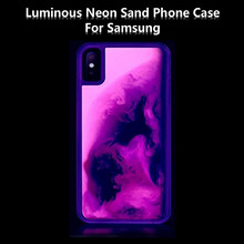 New Noctilucent Neon Sand Quicksand case for samsung galaxy S10E S9 plus A9 A8 note 8 9 J8 J6 A70 A50 30 20 Dynamic Liquid cover(China)