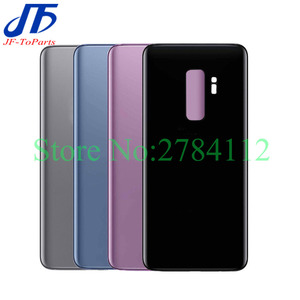 Image 1 - 10 pçs substituição de vidro traseiro para samsung galaxy s9 plus s9 + g960f g965f bateria capa porta traseira habitação caso
