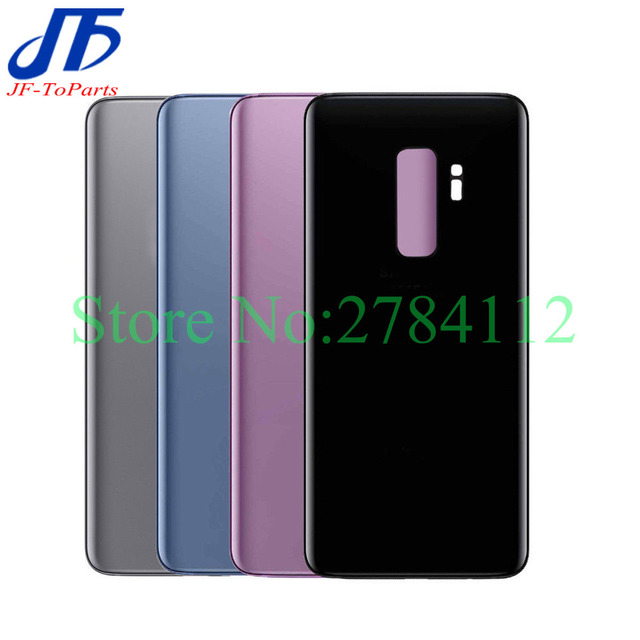 10 pçs substituição de vidro traseiro para samsung galaxy s9 plus s9 + g960f g965f bateria capa porta traseira habitação caso