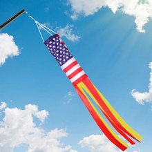 American Flag Windsock Stars & Stripes United States Patriotic Support USA German Streamer Garden