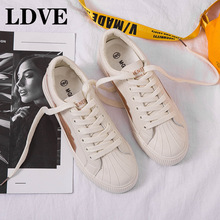 Fashion Women Canvas Sneakers Comfortable Shoes Vulcanize Flats Casual Lace-up Ladies Breathable Vulcanized