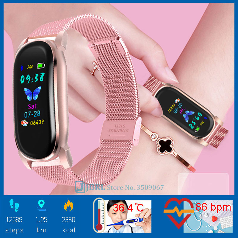 Temperature Smart Watch Men Women Smartwatch Electronics Smart Clock For Android IOS Fitness Tracker Nice Bluetooth Smart-watch