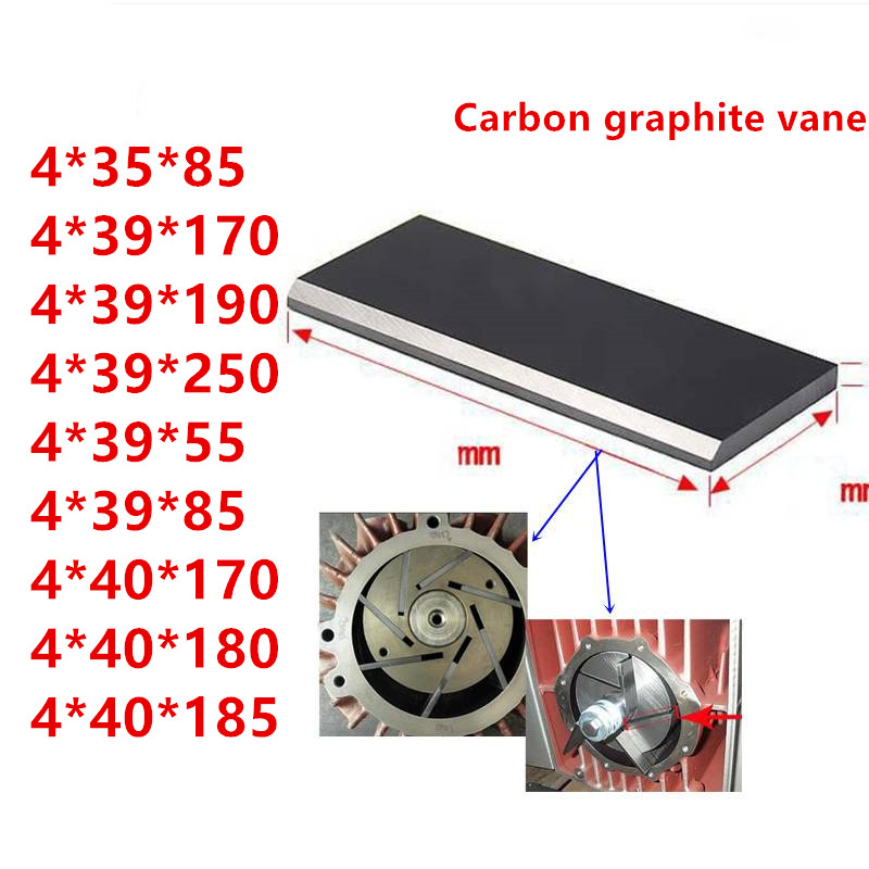 Supply All Sizes Becker Graphite Carbon Vane For Pump Graphite Blade