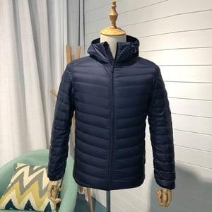 Image 4 - Man Winter Autumn Jacket White Duck Down Jackets Men Hooded Ultra Light Down Jackets Warm Outwear Coat Parkas Outdoors