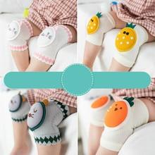 12 pairs Wholesale fashion cartoon baby knee pad crawling toddler Anti-fall knee protector Mesh Cotton baby girl socks 0-3 years