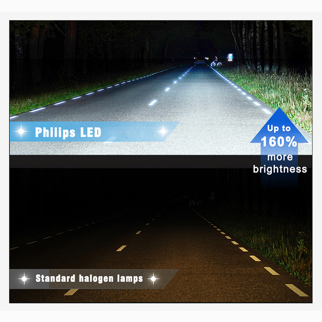 2X Philips H7 LED voiture phares ampoules H1 phares Kit H11 H8 H16 Auto lampes mini taille 6000K voiture lumière x-tremeultinon lampada XQ