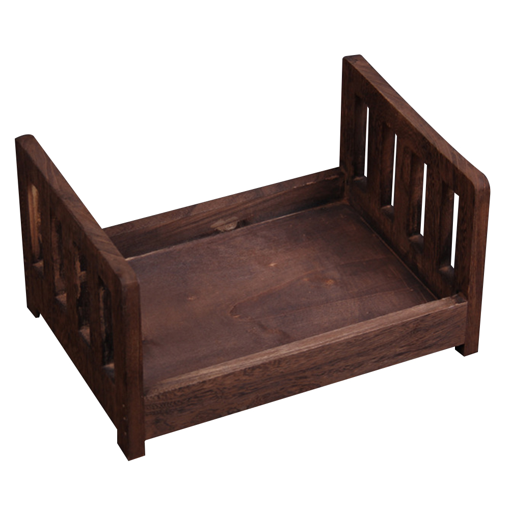 Studio Props Accessories Newborn Basket Crib Wood Bed Infant Background Baby Photography Detachable Photo Shoot Gift Posing Sofa