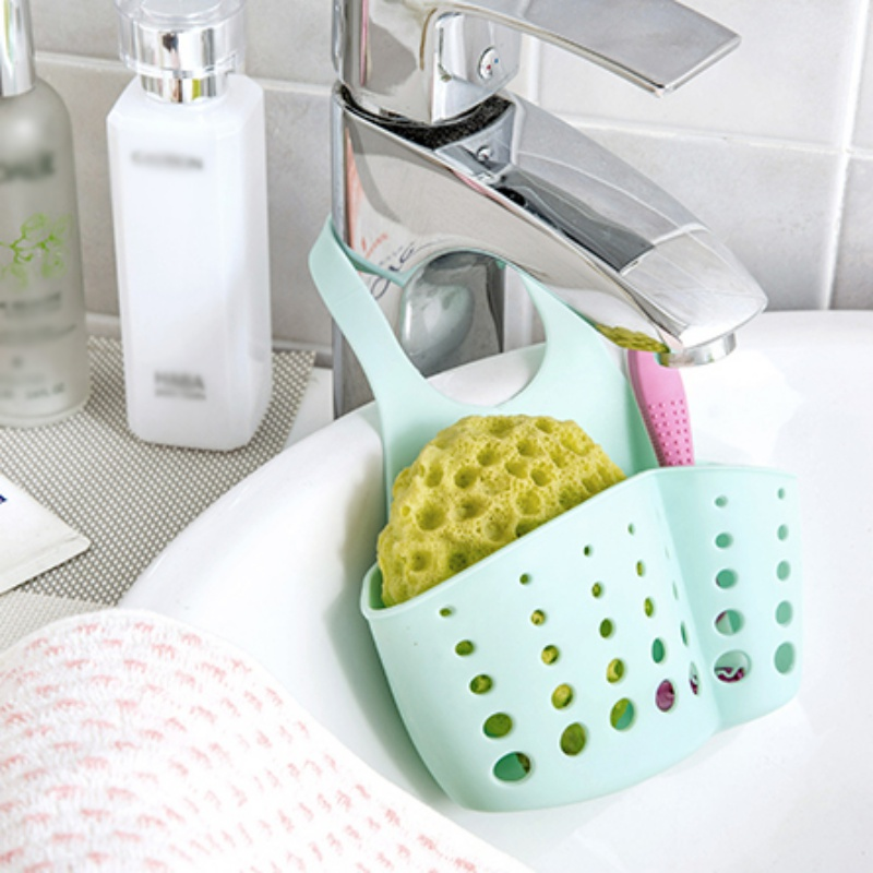Sink Storage Holder Multi-purpose Drain Shelf Storage Rack Sponge Holder Kitchen Sink Hanging Basket kitchen sponge sink  holder