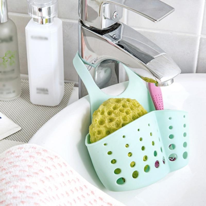 Permalink to Sink Storage Holder Multi-purpose Drain Shelf Storage Rack Sponge Holder Kitchen Sink Hanging Basket kitchen sponge sink  holder