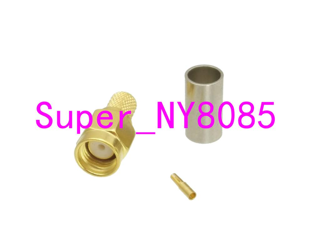1pce TNC Male Plug Crimp for RG58 RG142 LMR195 RG400 Cable Connector Right angle