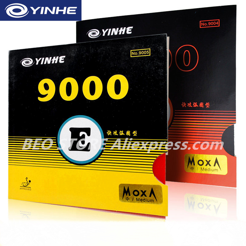 YINHE Galaxy 9000E 9000D Sticky Quick Attack Loop Pips-in With Sponge Table Tennis Rubber Ping Pong Tenis De Mesa