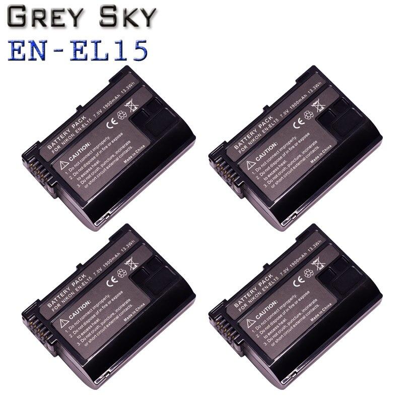 EN-EL15 ENEL15 Oplaadbare Digitale Batterij En-el15a En EL15 1900Mah Camera Batterij Voor Nikon D500 D750 D7100 D7000