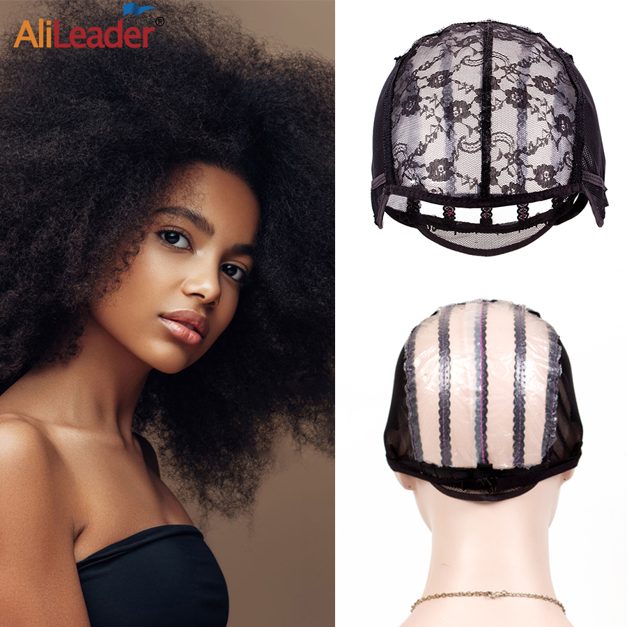 Alileader Best Selling Breathable Mesh Wig Caps For Making Wigs L/M/S Three Sizes With Adjustable Straps Elastic Balck Hair Wig