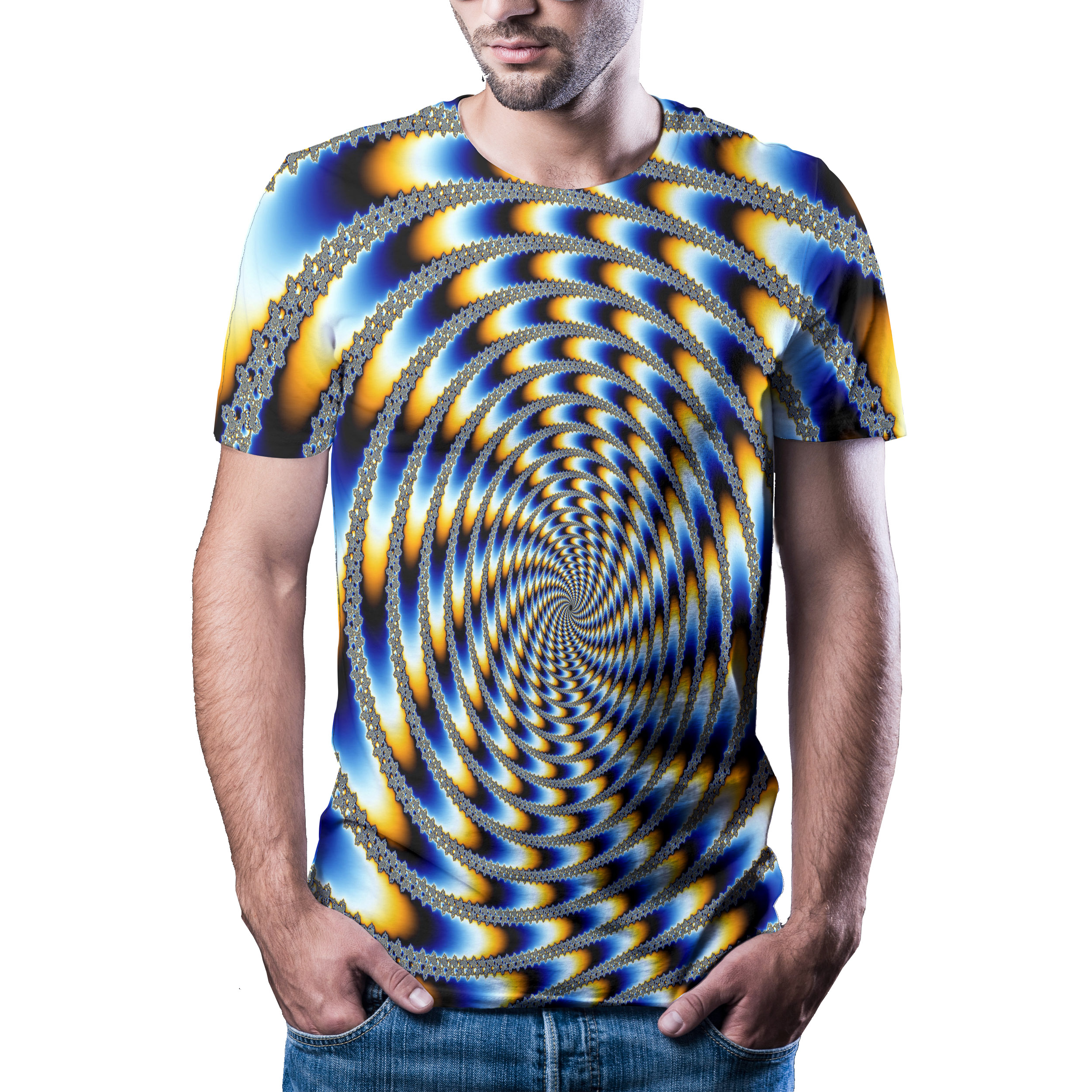 2020 Summer New 3D Visual Hypnotic T-shirt Men's Casual Harajuku Brand Short Sleeve Shirt