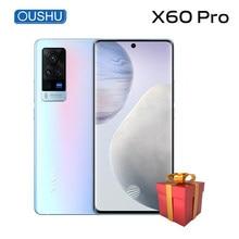 Mais novo original vivo x60 pro duplo 5g smartphone 3d amoled flexível 120hz tela 33w flash carregador cpu exynos 1080 nfc celular