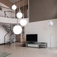 Современный простой белый стеклянный шар абажур светодиодный