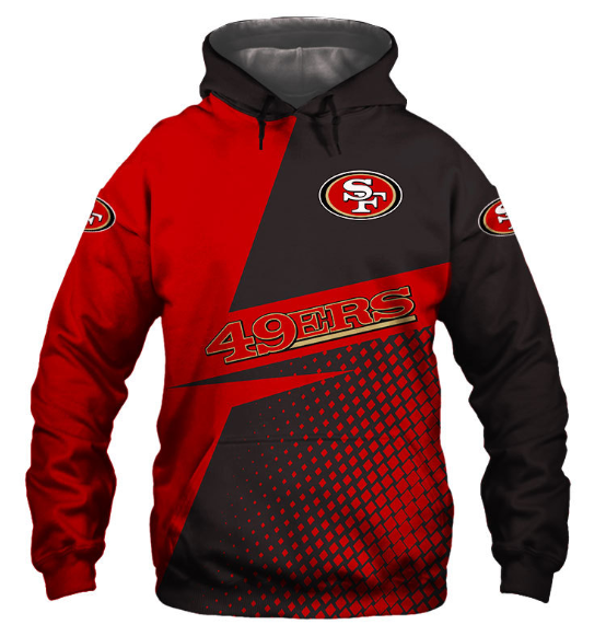 Usa Size Autumn Male Casual Hoodies San Francisco 3d Print Football Loose Sweatshirts 49ers Men Hip Hop Pullover Fashion