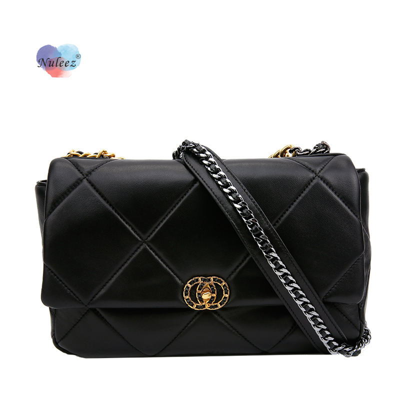 Nuleez  CHN Fragrant Wind Rack Handbag Lady Real Leather Chic Chain Handbag Ins Hottest Selling Wallet Big Size Bag Women