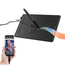 Графический планшет HUION H950P для рисования, устройство для создания рисунков и набросков, с безбатарейным стилусом, совместим с Android/ПК