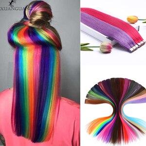 XUANGUANG длинный прямой цвет парик волосы кусок волосы для наращивания цвет прямые волосы Обрезанные на волосы