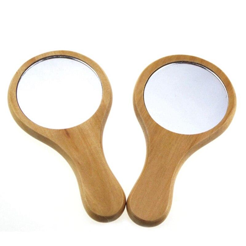 Зеркало из натурального дерева деревянное ручное зеркало винтажное