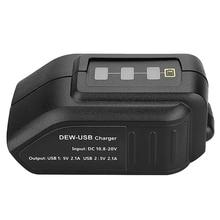 Battery-Converter-Adapter DEWALT Led-Display Li-Ion-Battery DC with for 12v-Port Dual-Usb