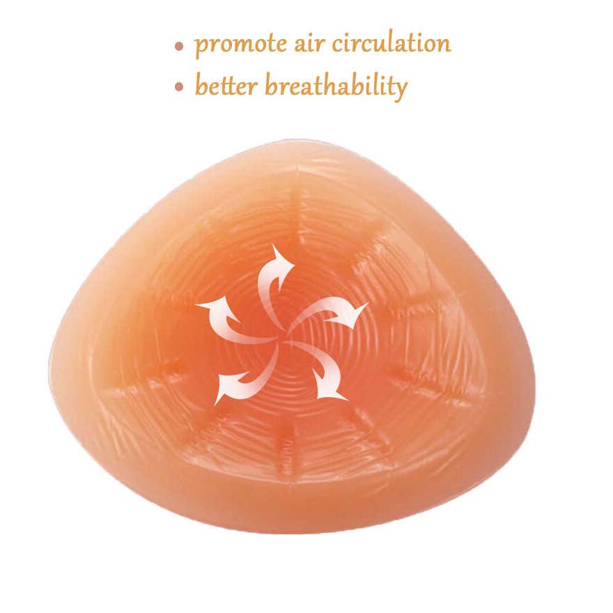 Sujetador de mastectomía de silicona para pecho, prótesis de pechos falsos, sujetador de bolsillo de encaje sin Aro de acero, sección delgada