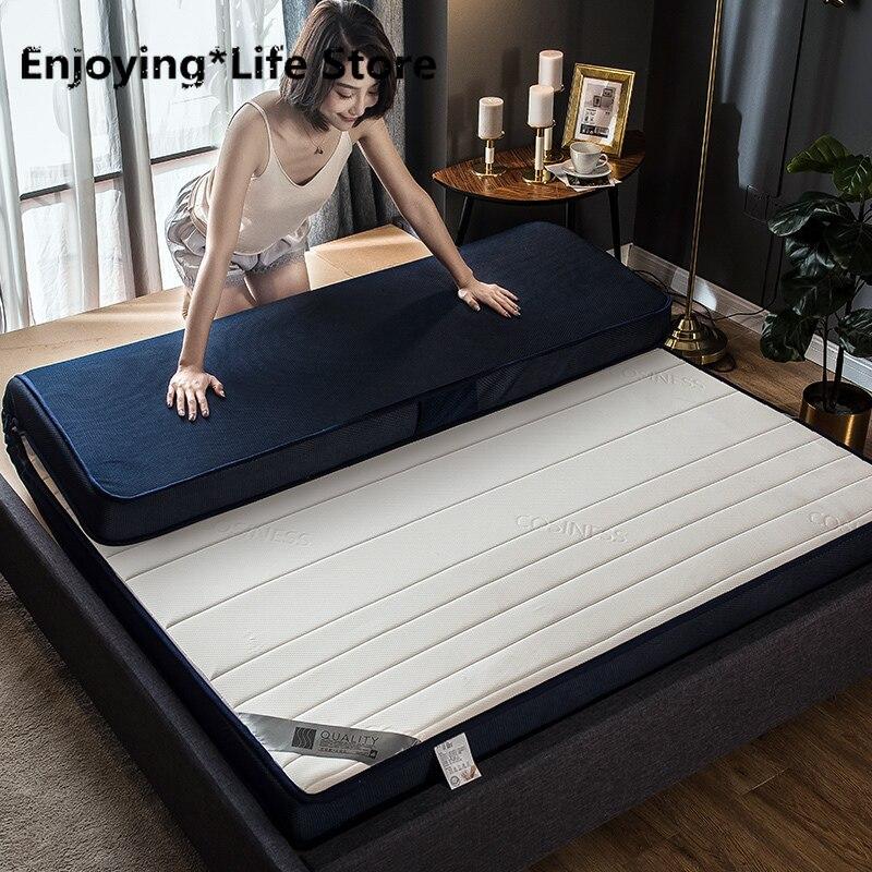 6cm/9cm Thickness Fashion Latex Mattress Folding Mattress  For Queen/King /Twin/Full Size Bed Breathe Foam Tatami Mattress