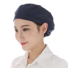Breathable Work Cap Dust Proof Hat Elastic Mesh Caps Food Service Chef Work Wear Hat Workshop Laboratory Hat Unisex