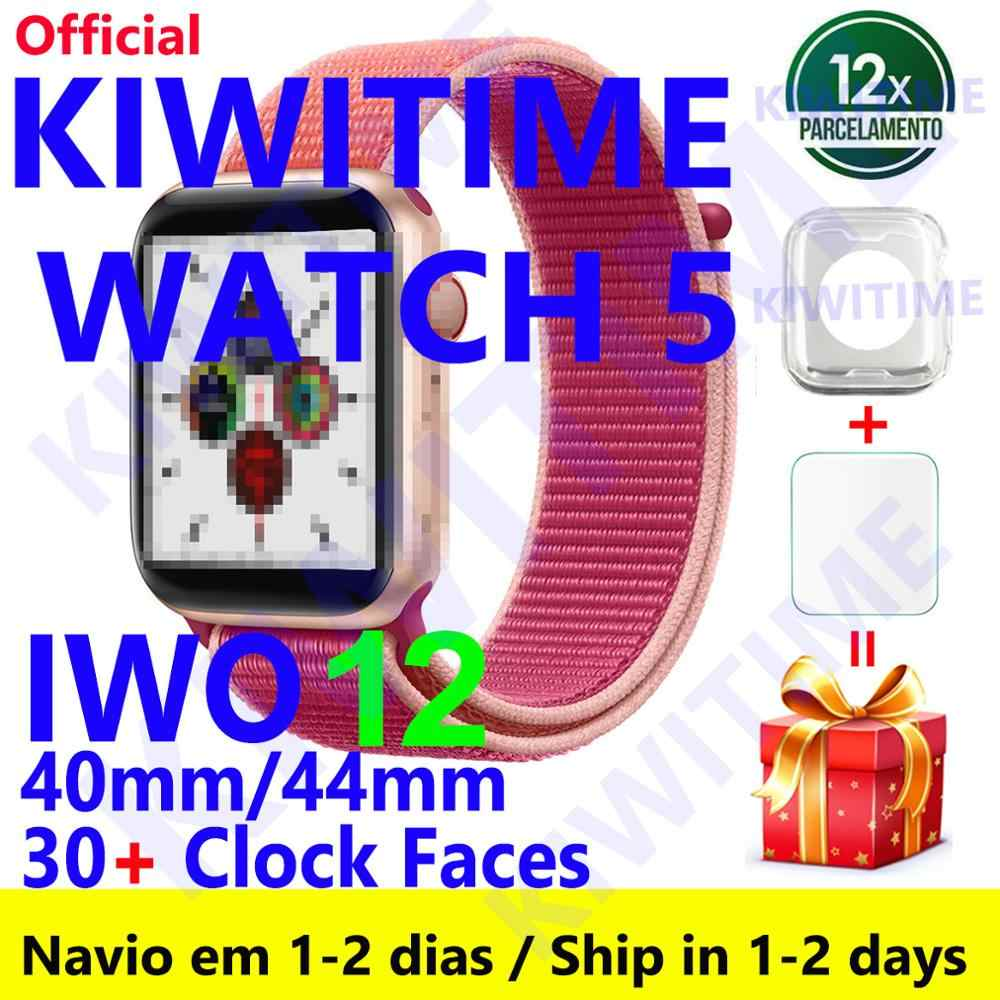 KIWITIME Watch 5 IWO 12 Bluetooth Smart Watch 1:1 SmartWatch 40mm 44mm Case for Apple iOS Android phone Heart Rate PK IWO 11 Pro
