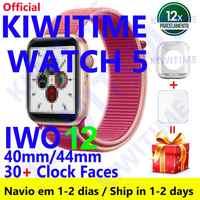 KIWITIME Orologio 5 IWO 12 Bluetooth Smart Watch in 1:1 SmartWatch 40 millimetri 44 millimetri Caso per il Caso di Apple Android di telefono Del Cuore tasso di PK IWO MAX 13 P8