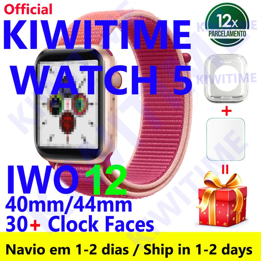 KIWITIME Watch 5 IWO 12 Bluetooth Smart Watch 1:1 SmartWatch 40mm 44mm Case For Apple Android Phone Heart Rate PK IWO MAX 13 P8