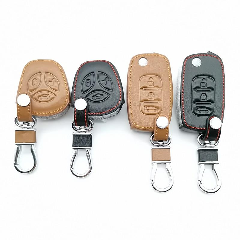 Car Leather Key Case Keyboard Cover For LADA Sport Sedan Priora Kalina Granta Vesta X-Ray X-Ray Car Keys Accessories Key Cases