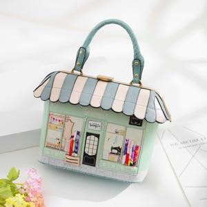 Image 2 - iPinee 2020 Women Shoulder Bag Italy Braccialini Handbag Style Retro Handmade Bolsa Feminina For Ladies House Shaped Bag