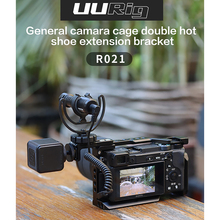 UURig R021 General Camera Cage Rig Double Dual Hot Cold Shoe Mic Bracket Universal for Sony Nikon Canon DSLR Camera Accessories