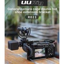 UURig R021 一般的なカメラのケージリグダブルデュアルホットコールド靴マイクブラケットユニバーサルソニーニコンキヤノンデジタル一眼レフカメラアクセサリー