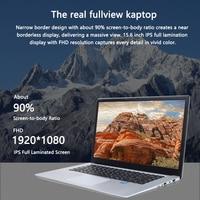ultrabook עם 15.6 אינץ נייד עם מחשב נייד 8G RAM 512G 256G 128g SSD ומשחקי מחשבי Ultrabook אינטל j3455 Quad Core Win10 (2)