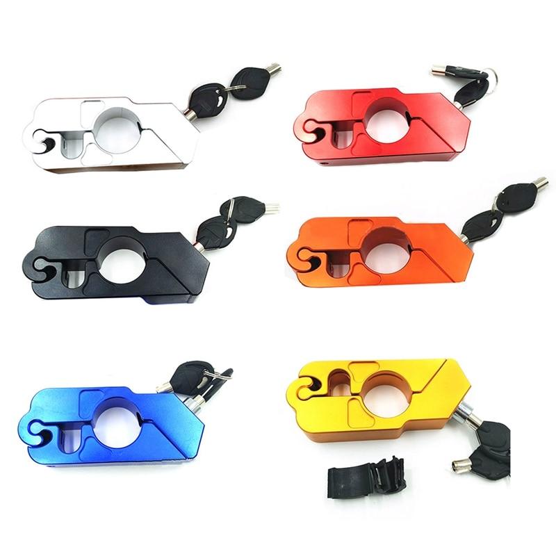 Motorcycle CNC Handle Lock Modified Car Handlebar Lock Anti-theft Lock Electric Horn Lock Inter-cycling Buckle