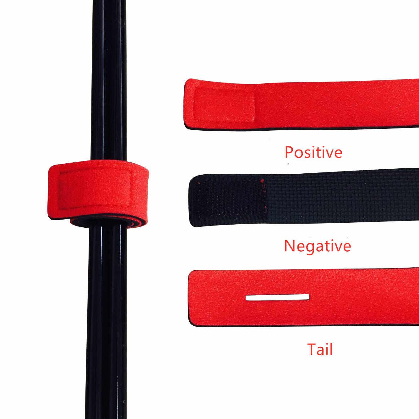 2 STUKS Nieuwe Vissen Tools Staaf Tie Strap Riem Visgerei Elastische Wrap Band Pole Houder Accessoires Duiken Materialen Non- slip Firm